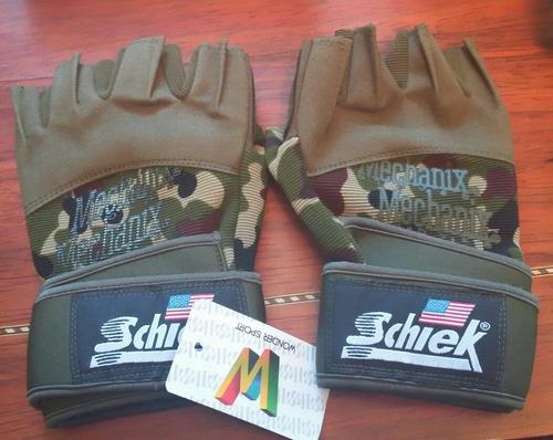 guantes para entrenamiento con pesas camuflados gimnasio