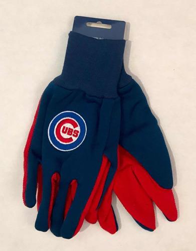 guantes para frío chicago cubs, producto oficial de la mlb