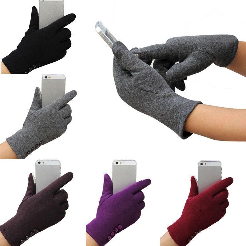 guantes para frio elegantes forrados dama mujer táctil color. Cargando zoom. b3bf955352d