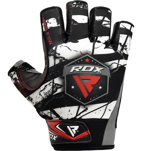 guantes para gimnasio pesas - rdx - licra y cuero - xl