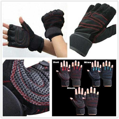 guantes para gym, pesas, crossfit, medio dedo gimnacio