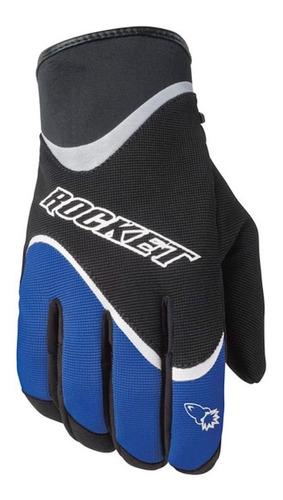 guantes para moto joe rocket crew 2.0 azules