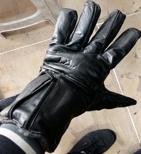guantes para motociclista de cuero