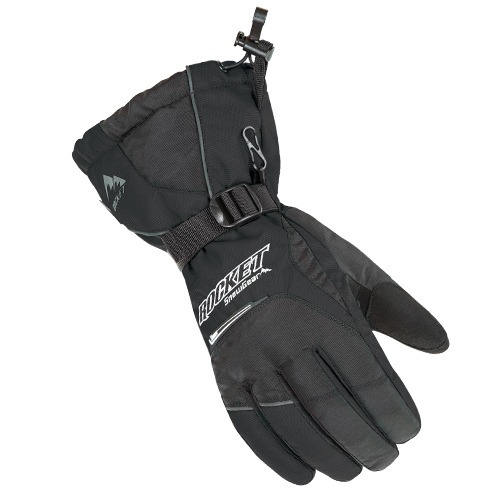 guantes para nieve rocket storm para mujer negros xs