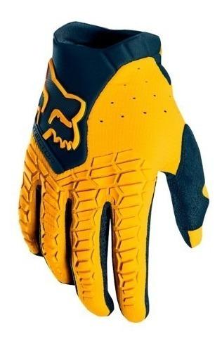 guantes pawtector adulto motocross moto navy fox