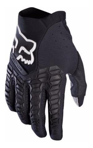 guantes pawtector adulto motocross moto negro fox
