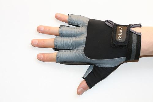 guantes pesas pesista crossfit gym en piel. verri mod 3000
