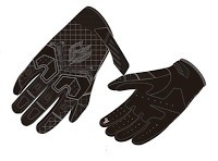 guantes p/hombre negros fieldsheer sugo, lg