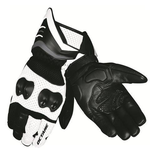 guantes pista octane summer negro/blanco