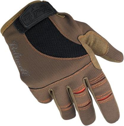 guantes p/moto biltwell inc. mx/offroad marrón/anar. sm