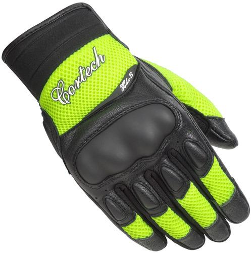 guantes p/motocicleta cortech hdx 3 mujer ventilados am/n md