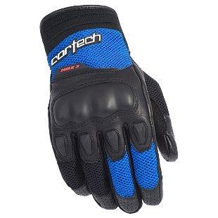 guantes p/motocicleta cortech hdx 3 p/hombre negro/azul 2xl