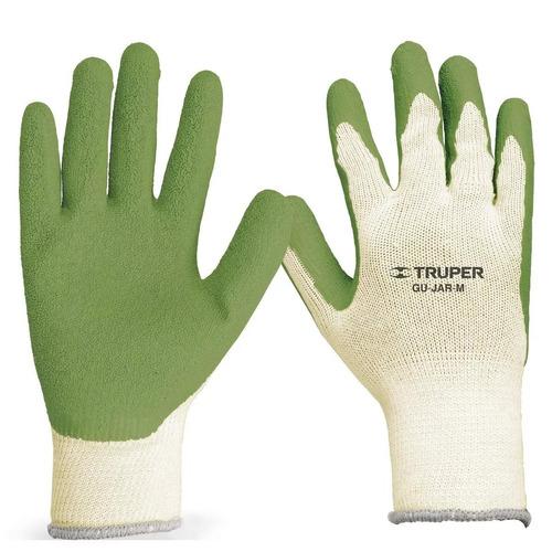 guantes poliester recubierto latex mediano truper 15266