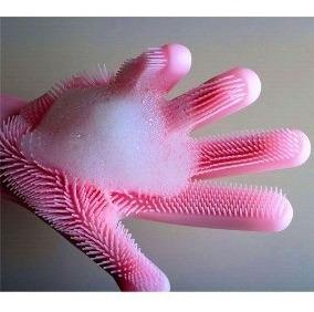 guantes premium silicona lava platos pone detergente y listo