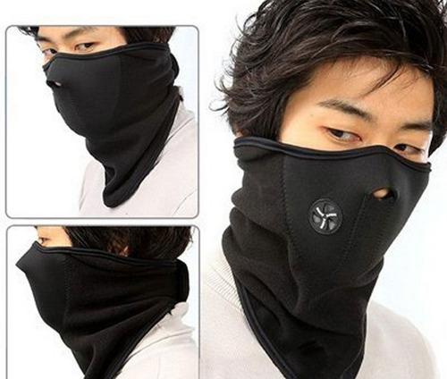 guantes primera capa + mascara neopren micro polar trekking