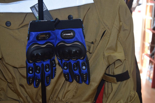 guantes promoto sexh azul rider one