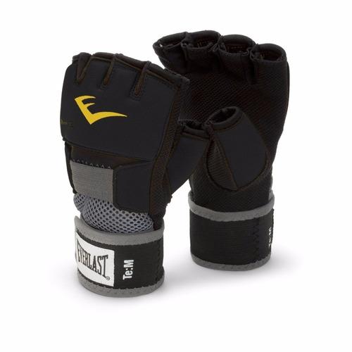 guantes protectores everlast evergel wraps negros mediano