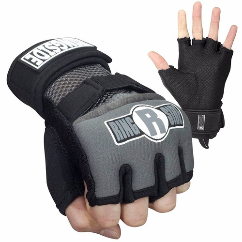 guantes protectores kickboxing ringside gel negros m