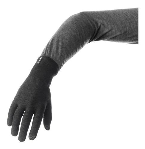guantes quechua tactiles montaña trek 500 negro