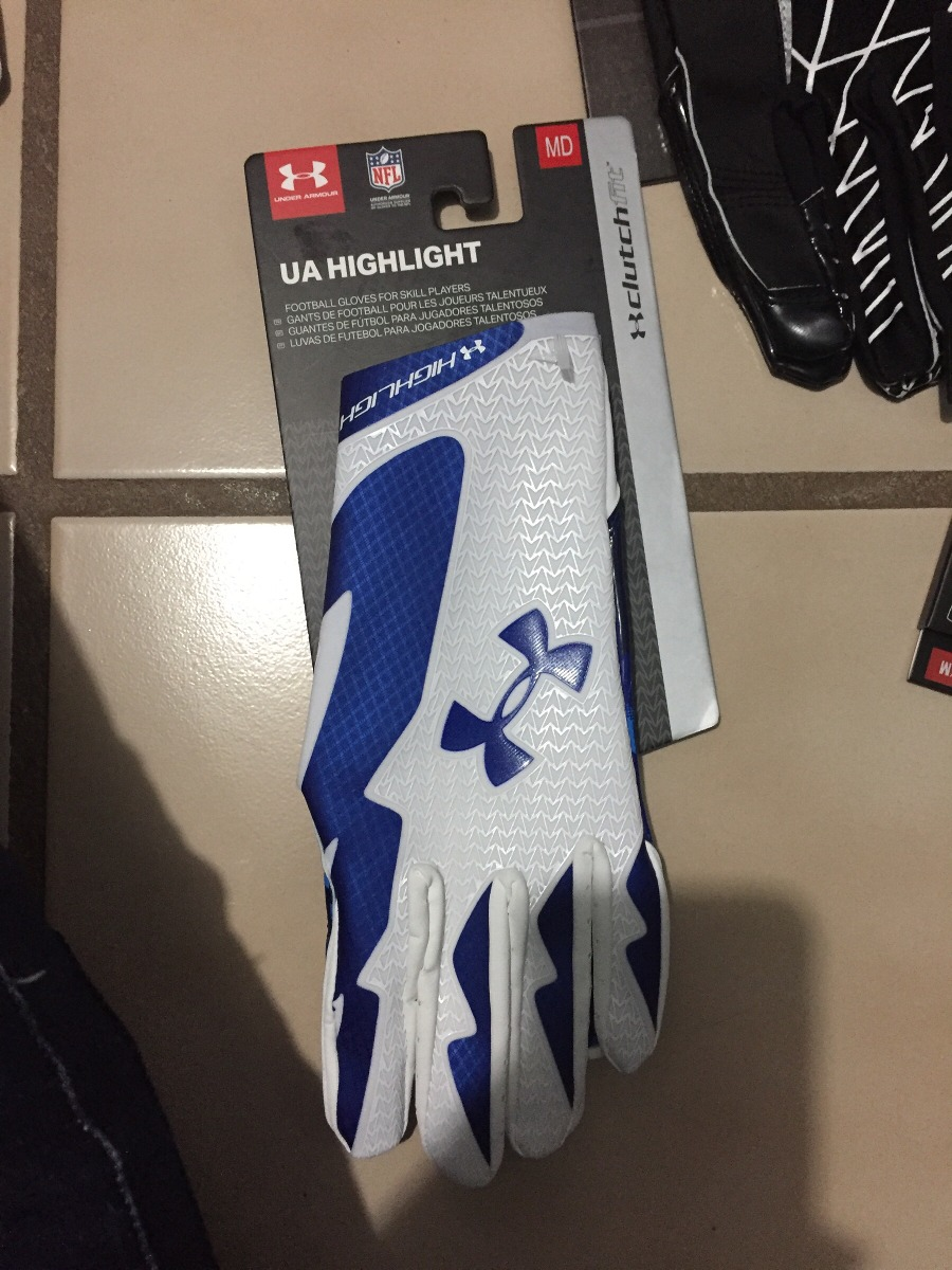 Guantes Receptor Under Armour Highlight Blanco Azul M Xl -   999.00 en  Mercado Libre 9465cefab9924