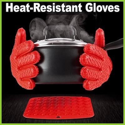 guantes resistentes al calor (par)