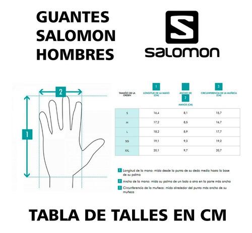 guantes salomon force gtx ski snowboard goretex hombre