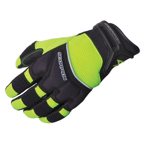 guantes scorpion coolhand ii mujer amarillo refl./negro md
