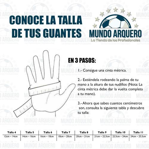 guantes semi para portero modelo rinat uno premier con varillas - envio y personalizado gratis - mundo arquero