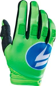 guantes shift strike 2016 mx/offroad azul/verde 2xl