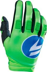 guantes shift strike 2016 mx/offroad azul/verde xl