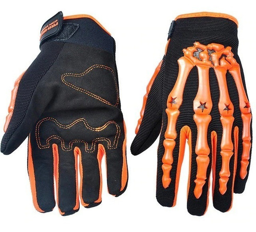 guantes skeletor para moto pro biker motoverde
