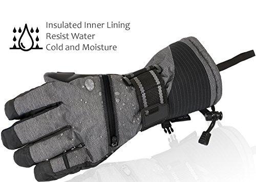 guantes ski gloves, winter warm 3m insulation wat buho store
