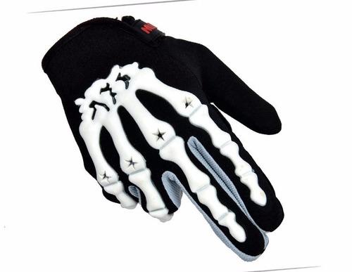 guantes tácticos calavera motociclista paintball
