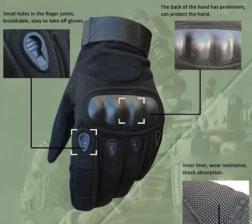 guantes tácticos, deportes, motociclismo, paintball