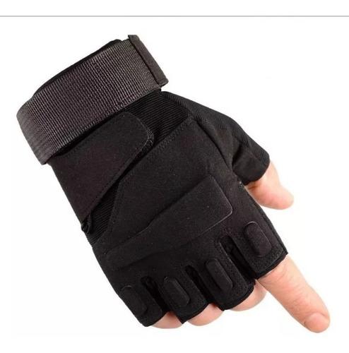 guantes tacticos medio dedo airsoft  indumentaria outdoor