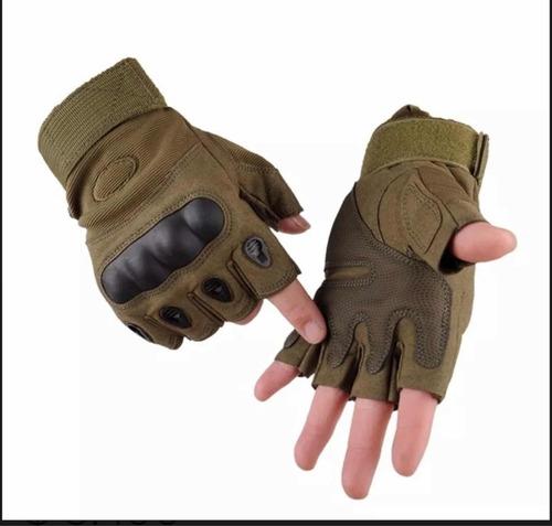 guantes tacticos medio dedo airsoft indumentaria royal verde