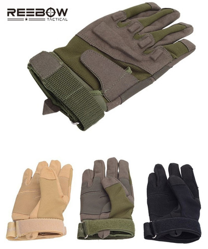 guantes tacticos moto reebow fibra de carbono