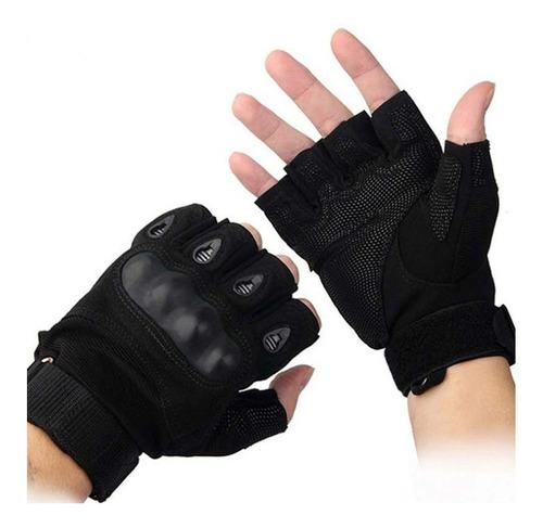 guantes tacticos nudillos almohadillas militar medio dedo