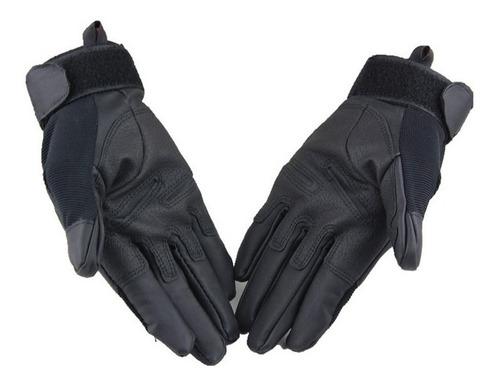 guantes tácticos oakley - medio dedo - negro  (m-l-xl)