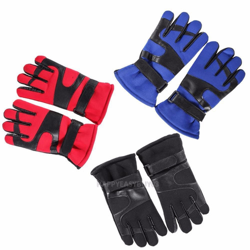 guantes térmicos viaje invierno impermeables antiviento rojo