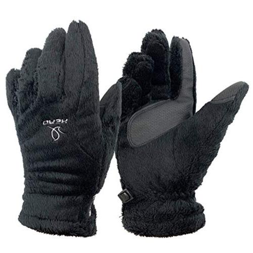 guantes thermalfur para mujer black s