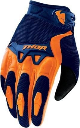 guantes thor spectrum mx/offroad hombre azul/naranja sm
