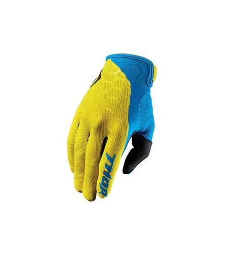 guantes todoterreno thor draft 2017 azul/amarillo xl