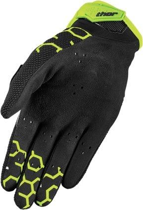guantes todoterreno thor draft 2017 negro/verde sm