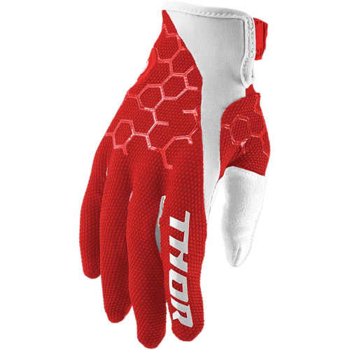 guantes todoterreno thor draft 2017 rojo blanco xl