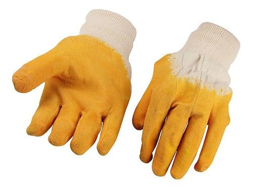 guantes trabajo polyester algodon y látex tolsen xl - 45022