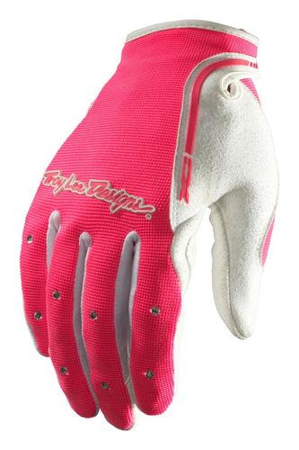 guantes troy lee d. xc  muj. mx/off., rosa xl