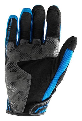 guantes troy lee designs xc mx/offroad hombre azul/sm