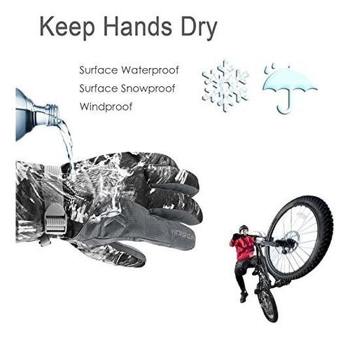 guantes ubenmart winter ski gloves, men women out buho store