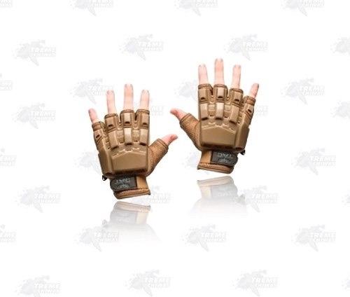 guantes v tac medio dedo proteccion plastico gotcha xtreme